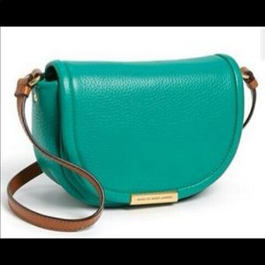 MARC BY MARC JACOBS Softy Saddle Leather Bag Green